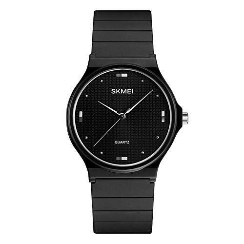 SKMEI Women Waterproof Watch, Wrist Watch for Lady Girls Dress Casual Analog Quartz Watches for Women (All Black)