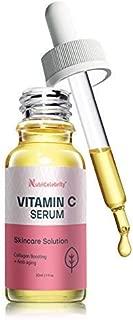 Nutricelebrity Vitamin C Serum Acne Scar Removal - Organic Anti Wrinkle Formula for Face Care, Dark Circle Repair, Jojoba, Coconut, Pomegranate, and Papaya Oil, Antioxidant Collagen Boosting - 1 oz