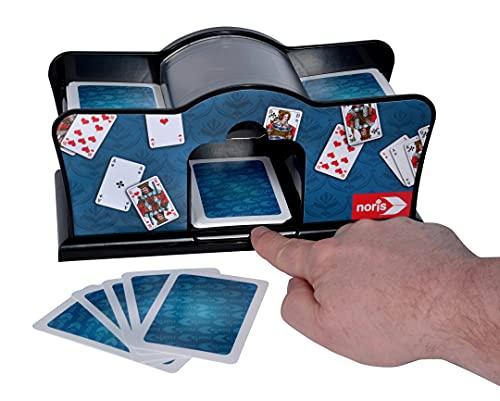 Noris 606154621 Accesorio para Juegos de Cartas Card shuffler Negro -