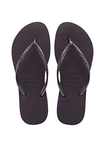 Havaianas Womens Slim Holiday Beach Flip Flops Summer Sandals Slip On - Aubergine - 9