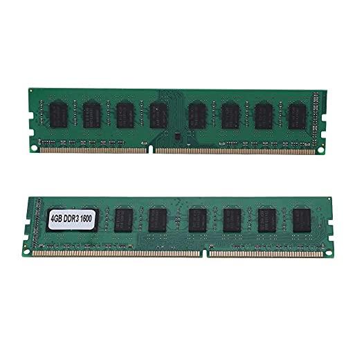 SALUTUY Módulo de Memoria de Escritorio DDR3 1600 MHz,Chip Integrado de Memoria de Escritorio DDR3 con 4GB DDR3 1600MHz para Placa Base AMD