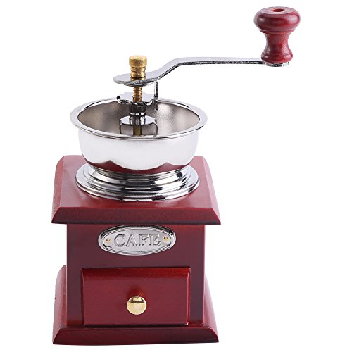Molinillo de café manual antiguo, diseño retro Grano de ca