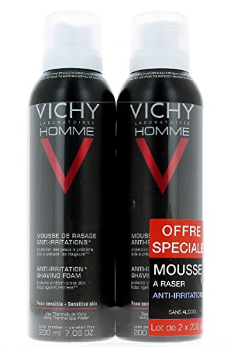 Vichy Homme Sensi Shave Rasierschaum Antiirritationen, 2er Pack (2 x 200ml)