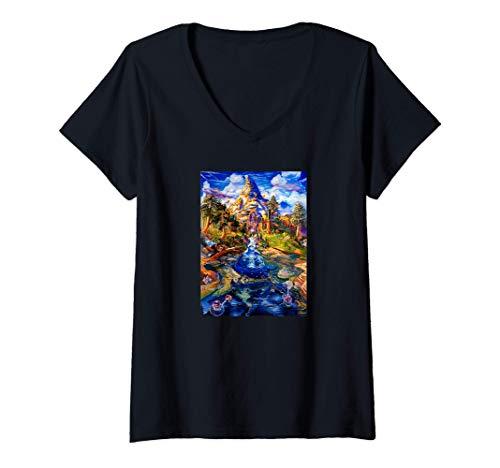 Womens DMT Spirit Molecule Trippy Psychedelic Art Camiseta Mujer Cuello V