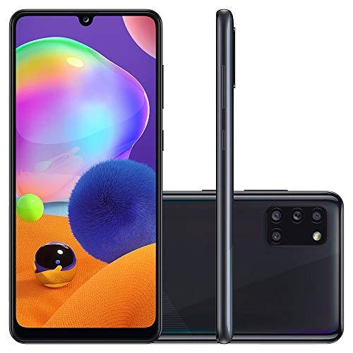 "Smartphone Samsung Galaxy A31 Dual Chip, Android 10, Tela 6.4"", Octa-Core, 128GB 4G, Câmera Quádrupla 48MP+8MP+5MP+5MP, Preto, SM-A315GZKKZTO"