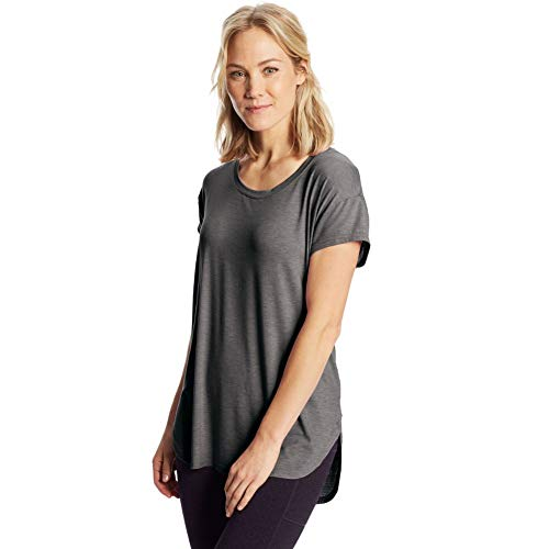 C9 Champion Women's Active Tee, Ebony Heather, S
