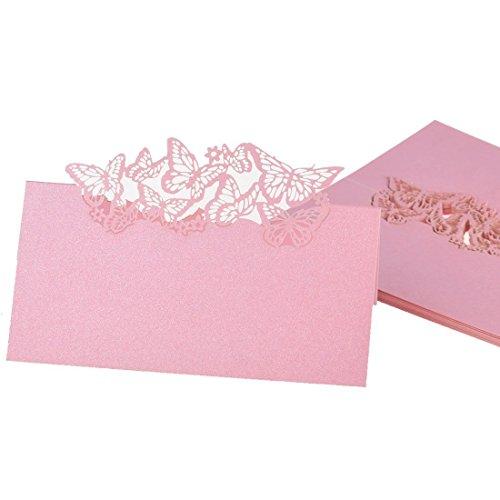 Lounayy 50Er Set Gästekarten Platzkarten Einladungkarte Namenkarten Basic Mode Für Hochzeit Sale Home Täglich Gebrauch Produkt (Color : Colour, Size : Size)