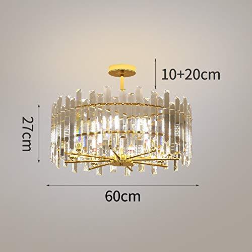 LIANGANAN Lámparas de cristal moderna de la lámpara por Ronda sala de estar Cocina la decoración del hogar de la lámpara de LED de cristal (Emitting Color : Warm White)