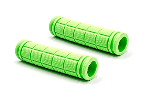 vhbw Lenkergriffe, Fahrradgriffe, grün, 23mm passend für Fahrrad