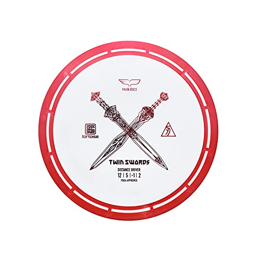 Yikun Professional Disc Golf Twin Swords   Distance Driver   165-176g   Perfect for Outdoor Games and Competition   Red