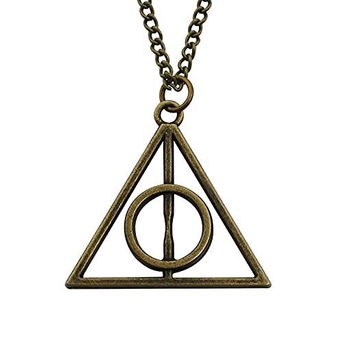 Película Europea Y Americana Harry Potter Luna Triángulo Collar No Giratorio Reliquias De La Muerte Colgante Joyería Periférica