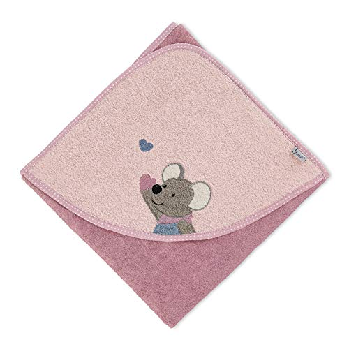 Sterntaler Kapuzenbadetuch Maus Mabel, Alter: ab 0 Monate, 80 x 80 cm, Rosa