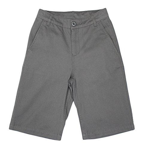Bienzoe Niño Uniformes escolares Algodón Bermudas Pantalones cortos Gris 7