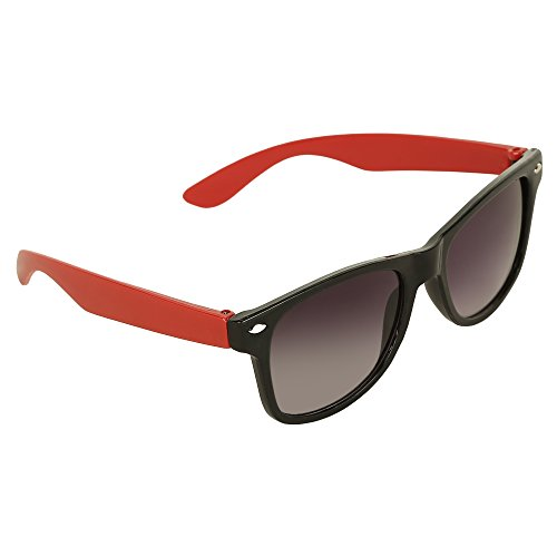 Amour Red & Black Full Frame Sunglasses with Black Lens for Kids with Case (5 to 8 Years)