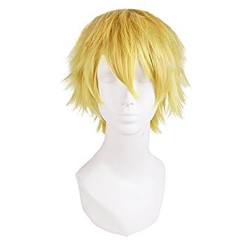 MapofBeauty 12 /30cm Men Male Short Cosplay Wigs  Blonde
