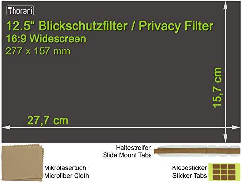 Thorani Laptop Notebook Privacy Filter Blickschutz Folie Sichtschutzfolie - 12.5 Zoll 16:9 Bildschirm