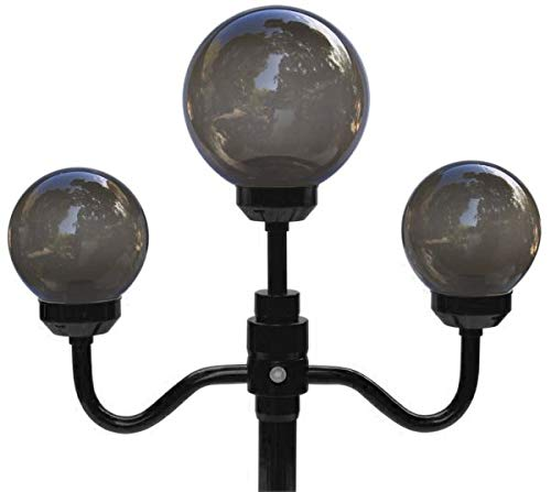 Outdoor Lamp Company (201BRZ) 70 Inch Tall Stem with 3 Globe Economy Street Lamp - Bronze
