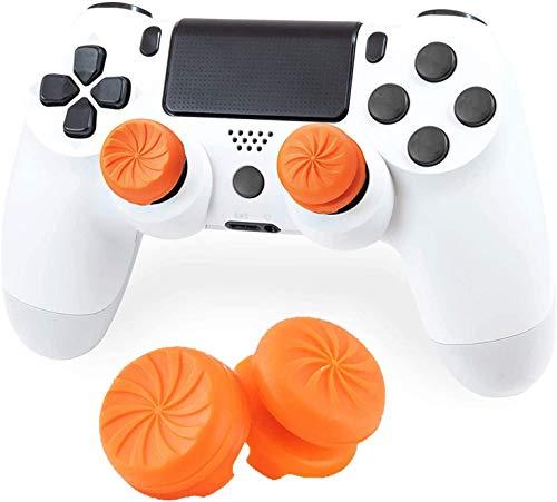 【2枚入り】(YiOne)For F-PSフリーク PS-5/PS-4 コントローラー用 親指グリップキャップ 可動域アップ FPSアシストキャップ アナログ ジョイスティック カバー For PS-4/PS-5 保護カバー(オレンジ)