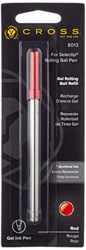 Cross 8013 - Recambio para bolígrafo roller, color rojo