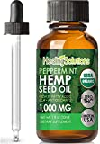 Peppermint Hemp Seed Oil Extract for Pain Relief, Stress, Anxiety, Sleep, Keto 1000mg