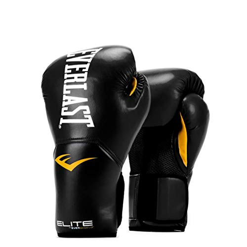 Everlast Elite Pro Style Training Gloves, Black, 12 oz