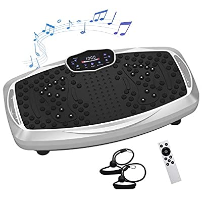 Healthgenie Full Body Vibration Platform Machine, Vibration Plate Exercise Whole Body Viberation Machine with 99 Levels Vibrarating Workouts & Remote Control
