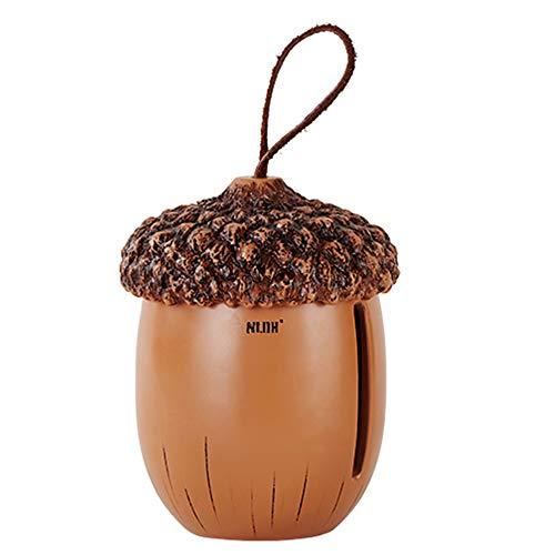 CROWNXZQ Kreative Eichel Tissue Box, handgeschnitzte Harz Zylinder, Esszimmer Bar Wohnzimmer Home Serviette Box Dekorationen 6.1 * 6.1 * 8.4in, braun
