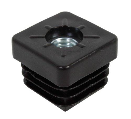 GAH-Alberts 426743 Gängplugg | för att försluta fyrkantiga rör | Plast, svart | Bredd 25 mm | Gänga M8