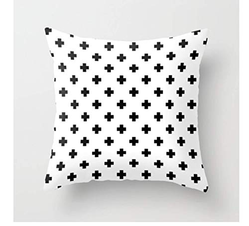 Brand New Simple Black And White Geometric Cushion Cover Modern Decoration Pillowcase Living Room Sofa Sofa Pillow 9