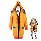 S-vision Anime Orange Rabbit Long Coat Compulsive Gambler Role Play Overcoat Anime Kakegurui Cosplay Disfraz Yomoduki Runa Yumeko Jabami Traje Amarillo-Grande