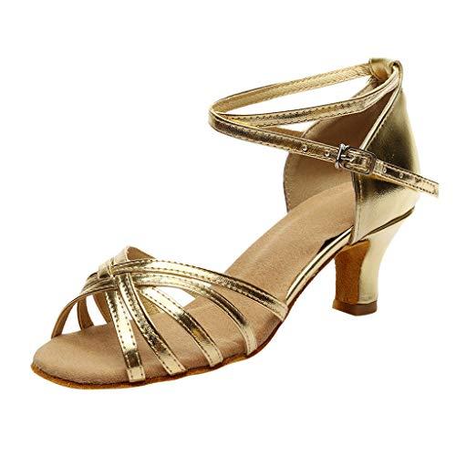Damen Tanzschuhe Standard & Latein Salsa Tango Schuhe Party Hochzeit Weiche Sohle Sandalen Celucke