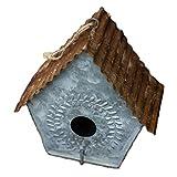 YCDJCS Vogelkäfig Retro Old Iron Garten Dekorative Bird Feeder Hangable Design Vogel Käfigzubehör Pet Supplies Käfige & Laufställe (Color : Multi-Colored, Size : 19.7 * 17 * 15.5 cm)