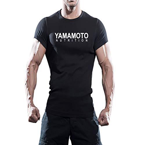 YAMAMOTO T-Shirt Allenamento Taglia L - 100% Cotone, Ideale per allenamenti intesi