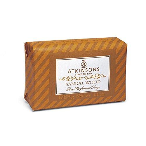 Atkinsons Fine Perfumed Line Seifenstück, Duft Sandelholz, 125 g, 1 Stück