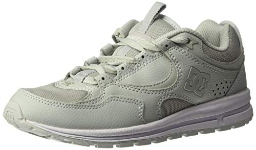 DC Women's Kalis LITE Skate Shoe, Grey, 9.5 M US