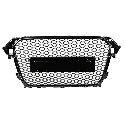 XKCCHW Parrilla, para RS4 Estilo Delantero Deportivo Hexagonal de Malla de Nido de Abeja Parrilla Negro Apto para Audi A4 / S4 B 8.5 2013 2014 2015 2016