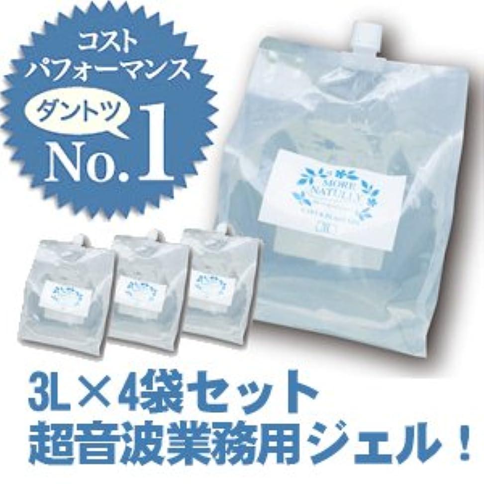 反対に融合夢【4袋セット】 モアナチュリー キャビ&フラッシュジェル【ソフトタイプ】 4袋セット 3L×4袋 12L / 業務用超音波ジェル