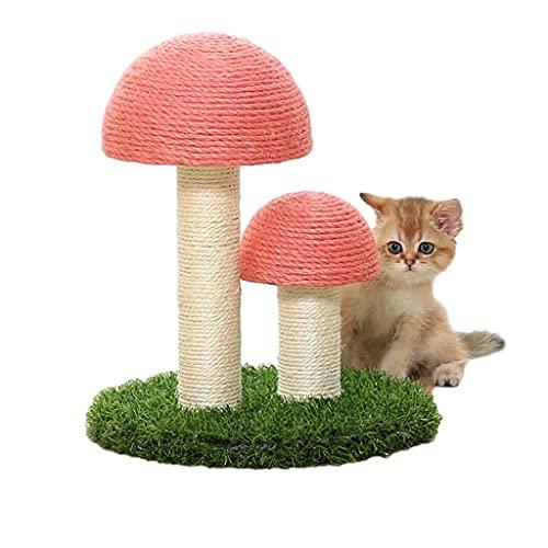 Hbao Gatti Rampicante Pet Cats Toys Forma di Fungo Gatti Tiragraffi Corda di sisal Gatti Albero Gattino Giocattoli Scratcher (Color : A)
