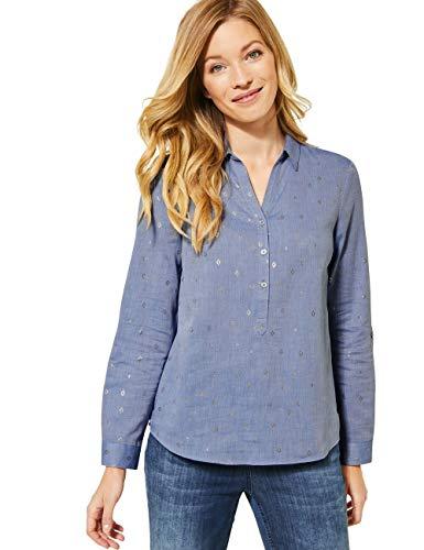 Cecil Damen 342252 Langarmbluse Bluse, Blouse Blue Melange, Large