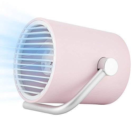 Pequeño Ventilador Usb Personal para el Verano, Mini Ventilador de Escritorio Portátil para Mesa, con Doble Cuchillas Turbo, Tecnología de Circulación de Aire Whisper Quiet Cyclone, WOZUIMEI