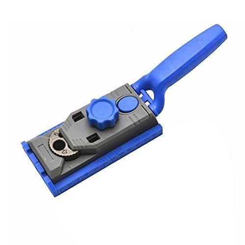 Kitzuki 2 en 1 Genius carpintería bolsillo del agujero de la plantilla del kit de 6-12 mm Taladro for Kreg piloto W/Escala de herramientas de perforación del agujero recto Posicionador Jig accesorio