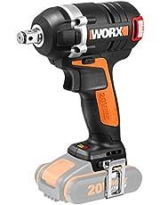 WORX WX borstelloze accu slagschroevendraaier 20V LED-licht schroefwerkzaamheden/zonder accu & oplader