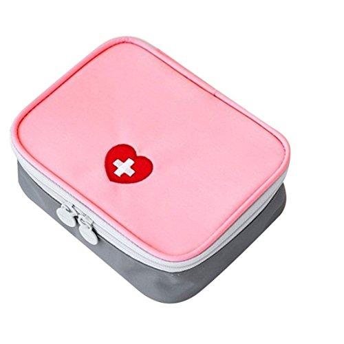 Lifesport Erste Hilfe Set, Erste-Hilfe-Koffer First Aid Kit Notfalltasche Medizinisch Tasche Wasserdicht Tragbar Perfekt Design für Haus Auto Camping Jagd Reisen Natur und Sport (Rosa)