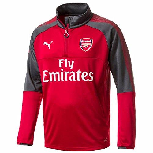 PUMA, Giacca AFC 1/4Training Topith Sponsor t-Shirt, Uomo, AFC 1/4 Training Topith Sponsor, Chili Pepper-Dark Shadow, M
