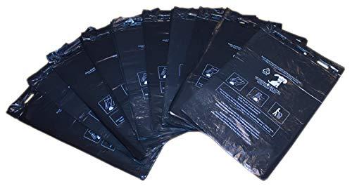 N / A 1000 Stück Hundekotbeutel (10 Blöcke á 100 Beutel), zum Aufhängen, schwarz in 21 x 31,5 cm + 3,5 cm Rand