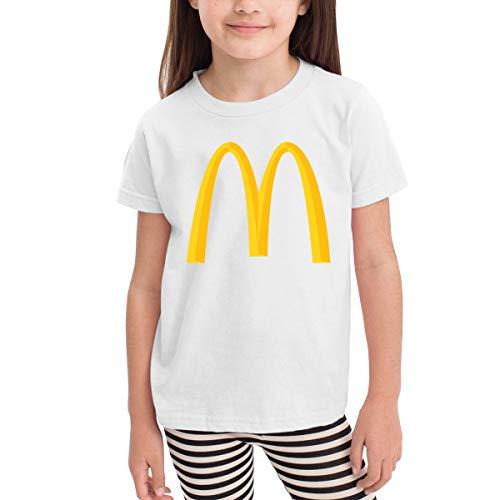 Kids Kinder Boys Girls McDonalds Logo Merch Kurzarm Bekleidung T-Shirt Rundhalsausschnitt Tee T Shirt Baumwolle Sommer für Kinder Mädchen Jungen White 3t