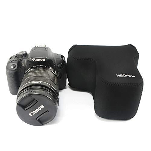 Negro Funda Cámara Reflex Neopreno Protectora para Canon EOS 250D ...