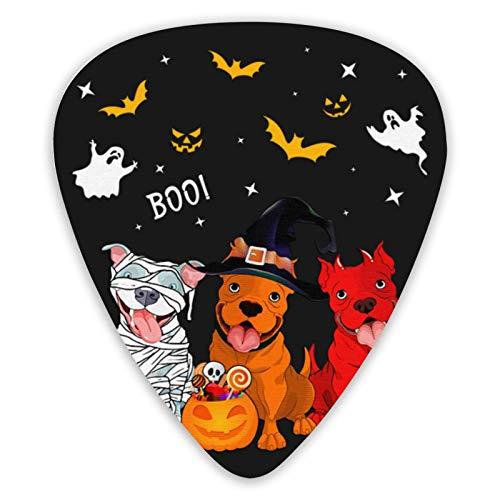 Púas de guitarra estampadas para disfraz de Halloween de Bulldog (paquete de...