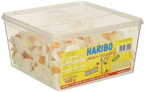 HARIBO Caramelle Barattolo 200 pz. Uova al Tegamino kg. 1000 gr