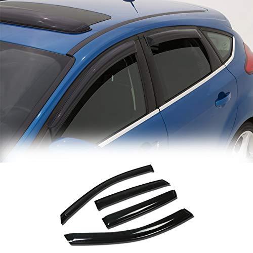 VioletLisa 4pcs Compatible with Sedan Smoke Deflector Sun Rain Guard Vent Shade...